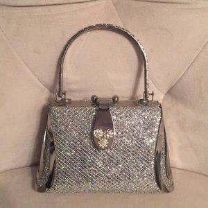 Handbags - Small glittery silver handbag